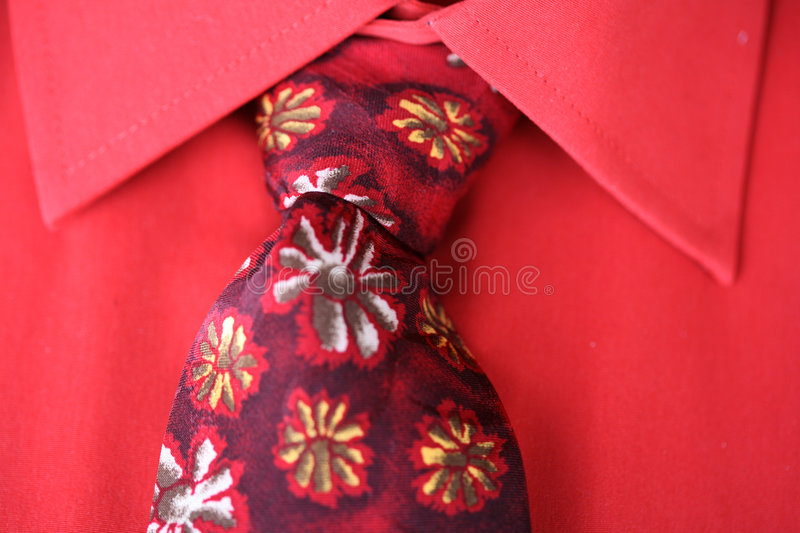 Tie and shirt stock photo