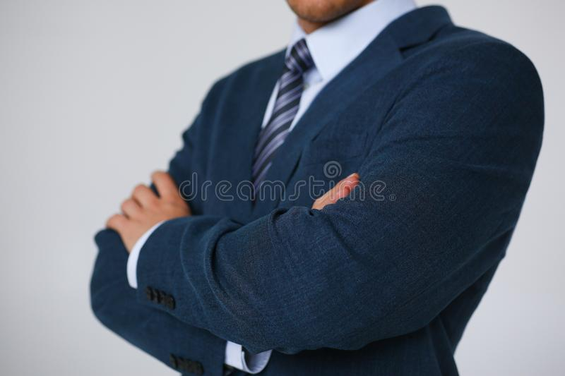 Tie on shirt suit business style man fashion royalty free stock images
