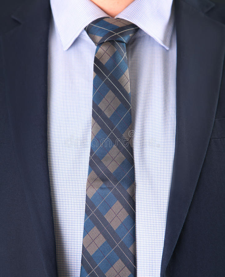 Tie and suit royalty free stock photo