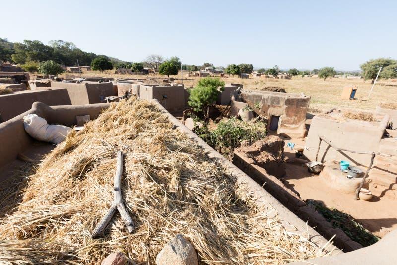 Tiebelè. kassena village. Tiebelè, the royal court made by painted kassena houses, Burkina Faso royalty free stock image