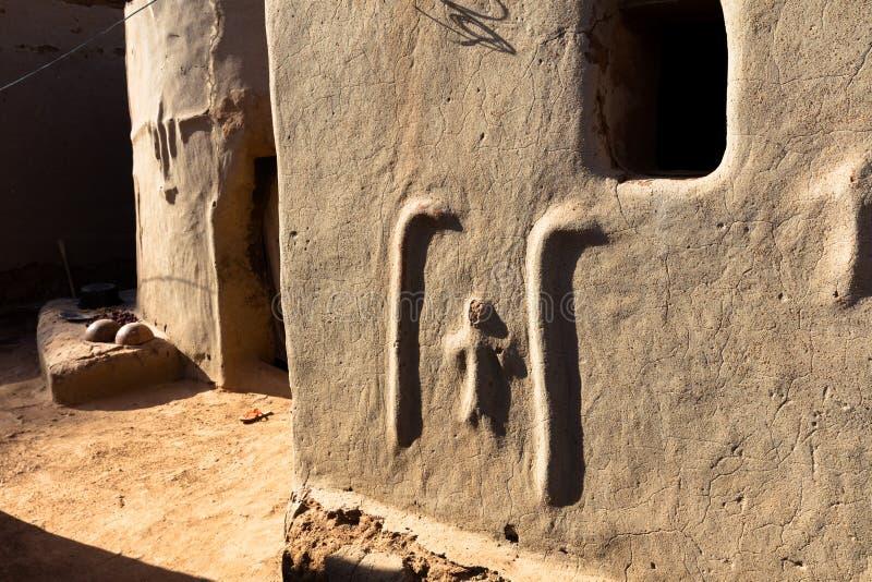Tiebele. kassena village. kassena village. Tiebele, the royal court made by painted kassena houses, Burkina Faso stock photo