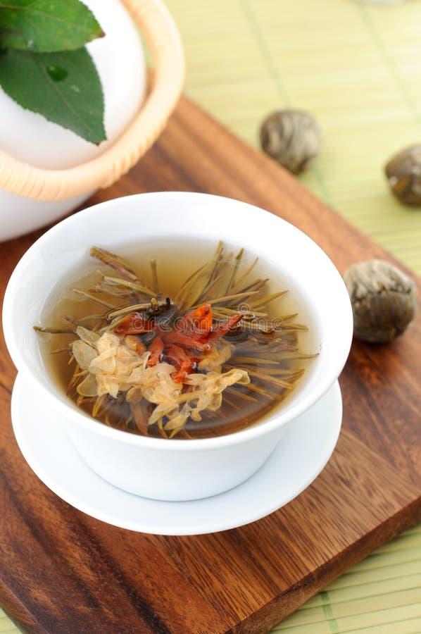 Tied green tea stock photos