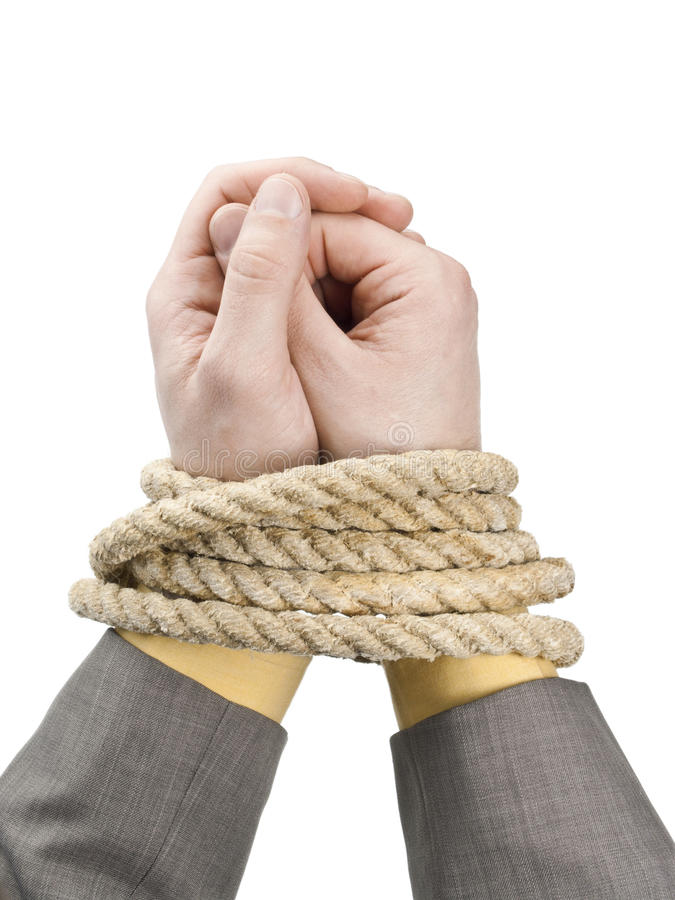 Tied Hand royalty free stock images