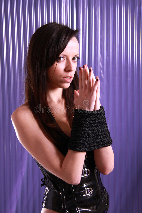 Download Tied up. stock photo. Image of model, body, girl, elegant - 11892332