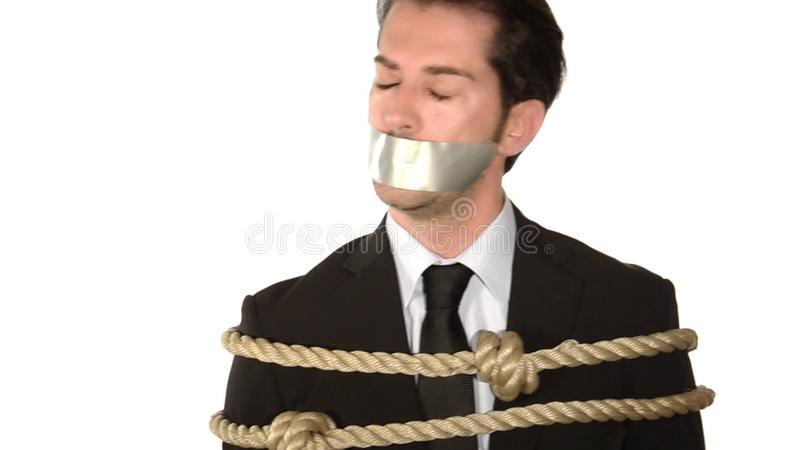 A Tied Up And Gagged Businessman Stock Video Video Of Gagged Censored