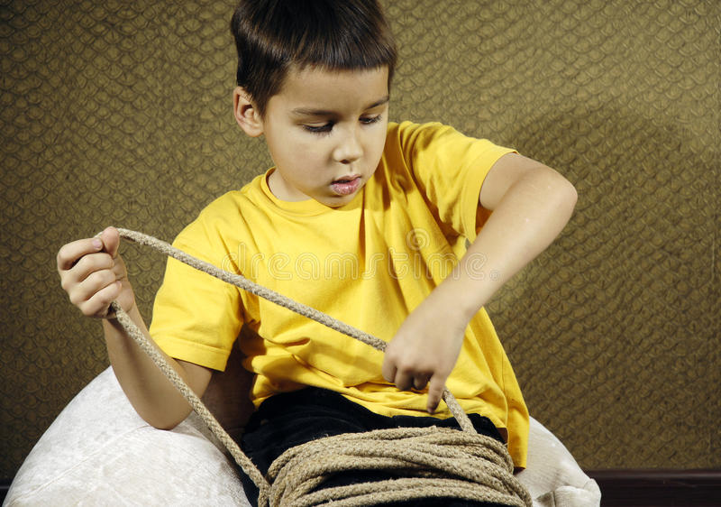 Tied up kid royalty free stock image