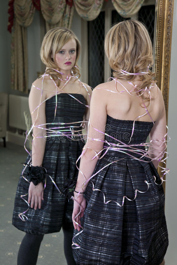 Tied Up In Ribbon Stock Image Image Of Unhappy, Lifestyle - 21643341-9939