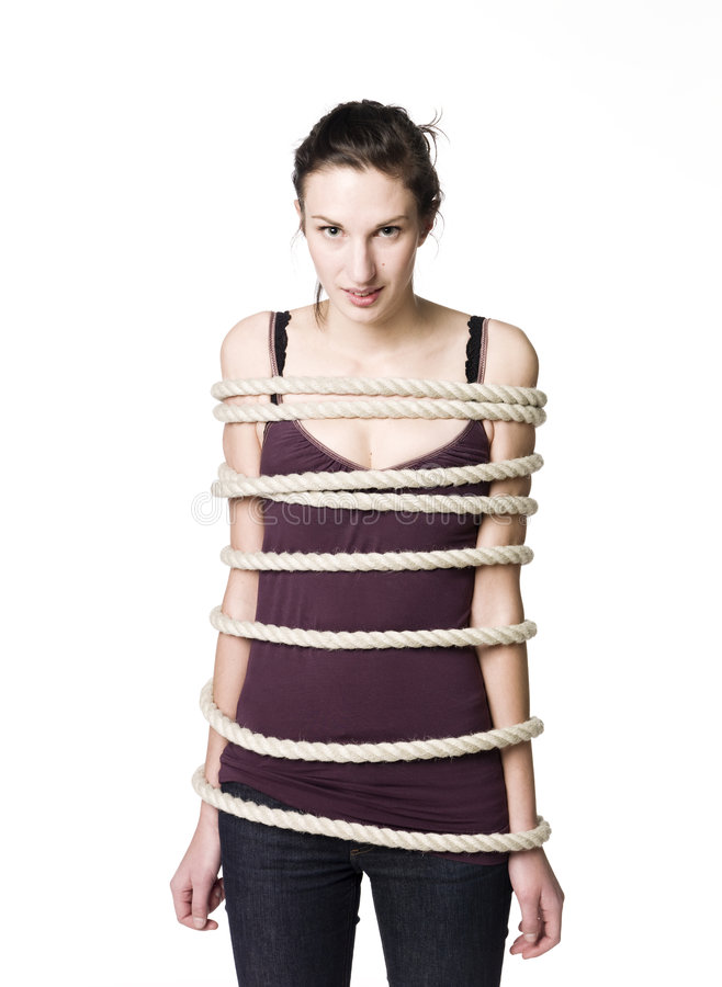 Free Tied Up Woman Royalty Free Stock Photos - 8572528