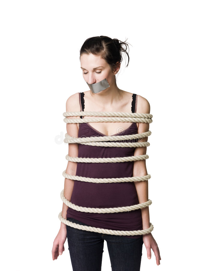 Free Tied Up Woman Royalty Free Stock Photos - 8572548