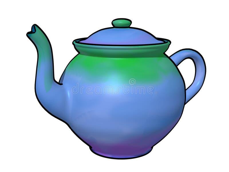 TieDye-Teekanne stockfoto