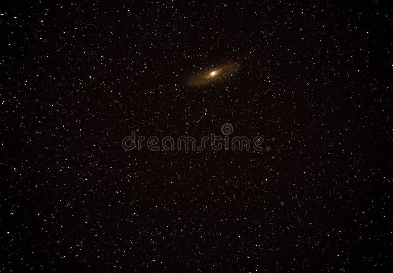 Tiefe Himmelphotographie mit Andromeda und Begleiter M31 M32 M110 stockfotos