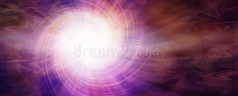 Tiefe magentarote Dunkelheit und Licht stock abbildung
