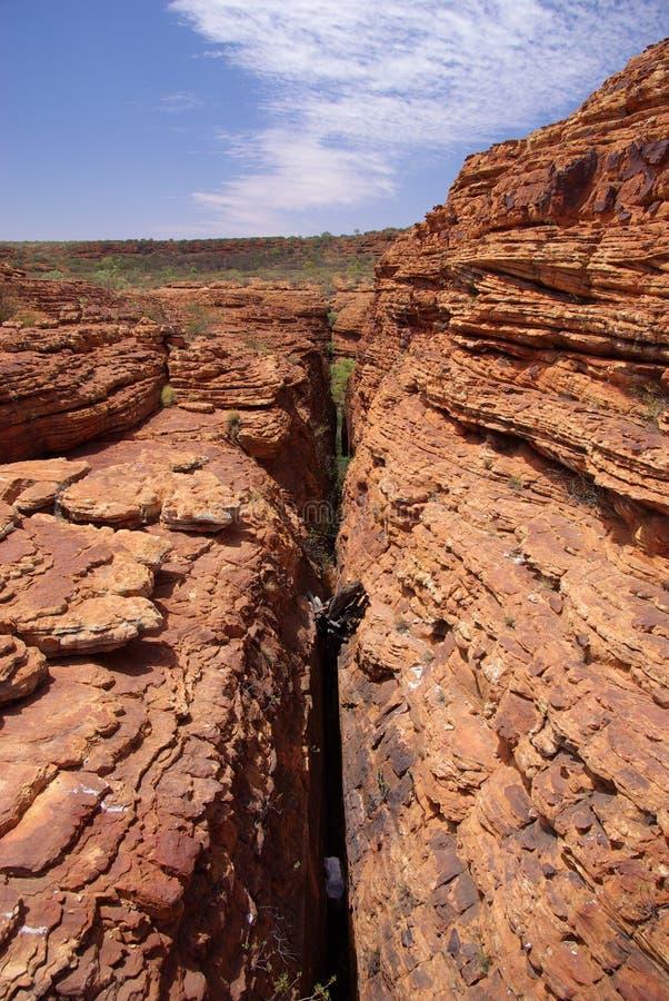 Tiefe Schlucht bei Canyon des Königs lizenzfreies stockfoto