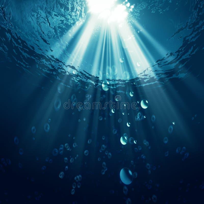 Tiefer blauer Ozean stock abbildung