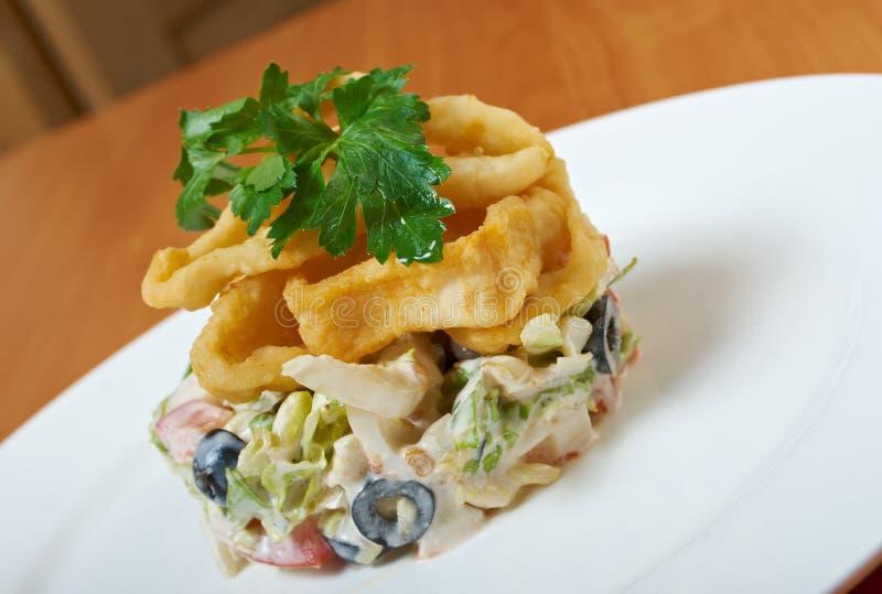 Tiefer Fried Calamari Ring lizenzfreies stockfoto