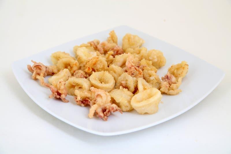 Tiefer Fried Calamari Rings lizenzfreies stockfoto