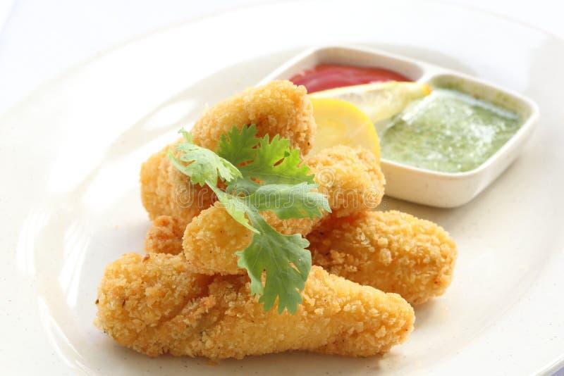 Tiefer Fried Fish Finger lizenzfreie stockbilder