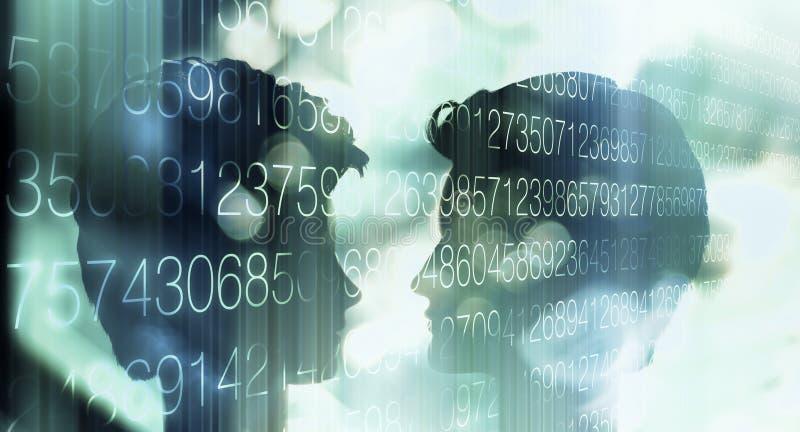 Tiefer Lernenai-Roboter Cyberverstand stockfotos