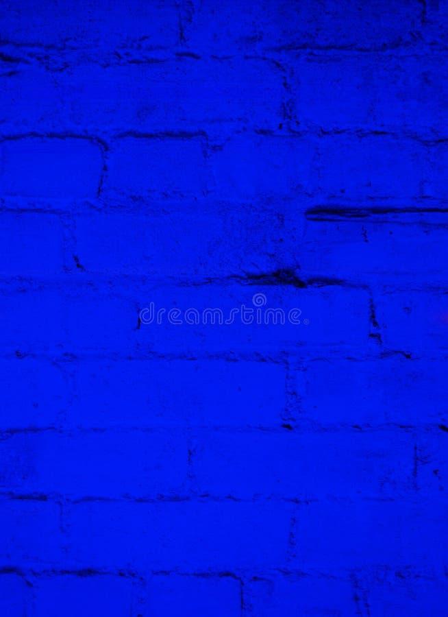 Tiefer Ozean-Blau-Ziegelstein-Hintergrund lizenzfreie stockbilder