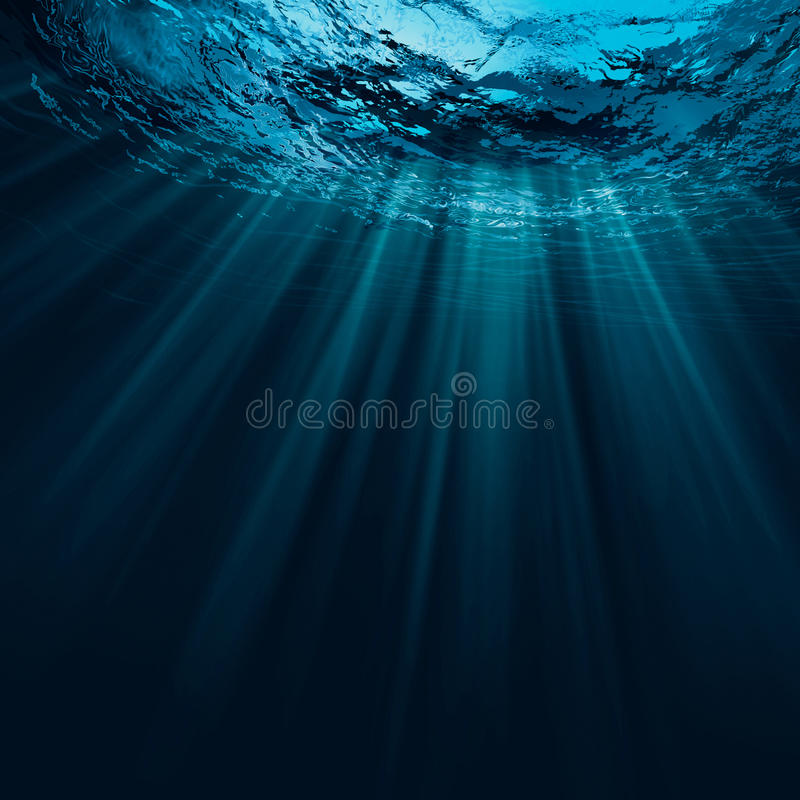 Tiefes Wasser stockfotografie