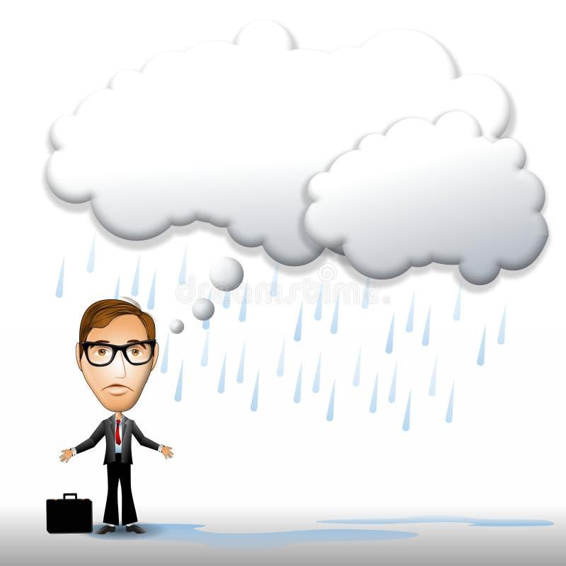 Tiefstand-Gedanken-Luftblase stock abbildung