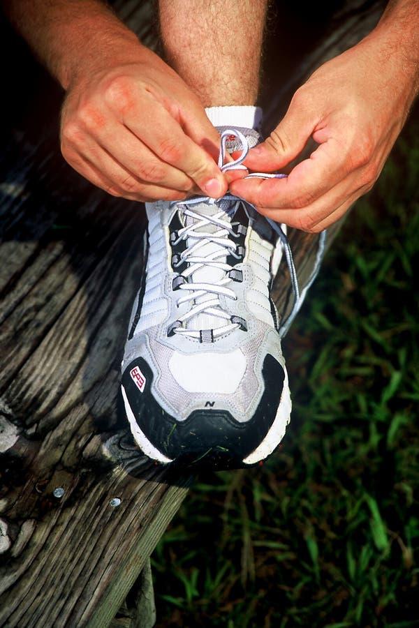 tieing的鞋子 库存图片