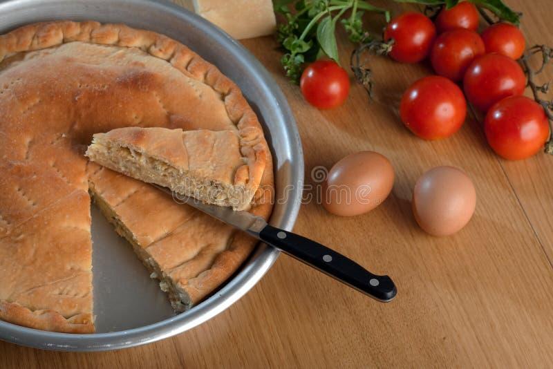 Download Tiella di Gaeta stock photo. Image of typical, food, basil - 10926972