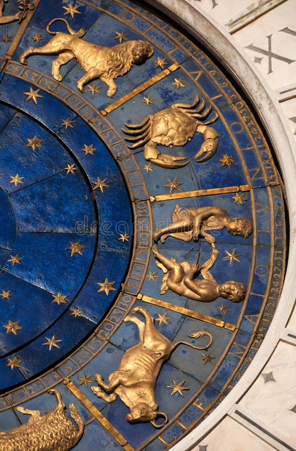 Tiempo, astrología y horóscopo antiguos imagen de archivo libre de regalías