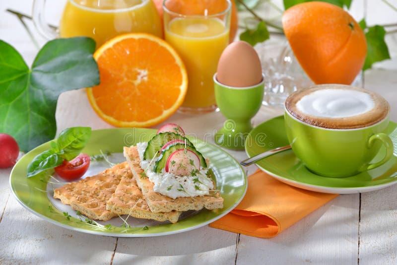 Tiempo de desayuno imagen de archivo