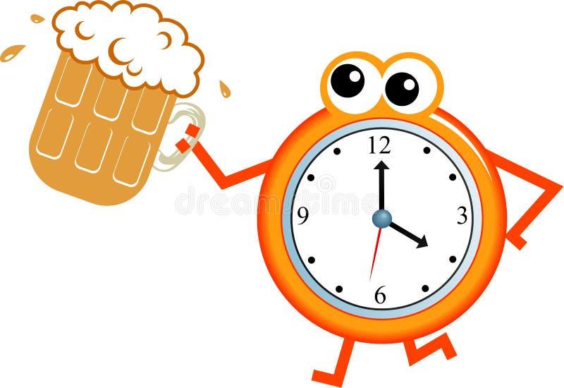 Tiempo de la cerveza ilustración del vector