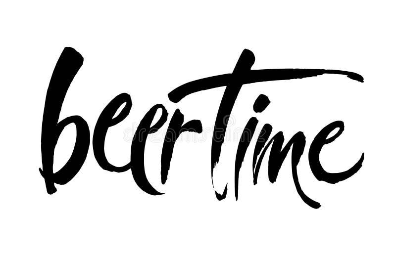 Tiempo de la cerveza Ejemplo para el web, cartel, invitación ilustración del vector
