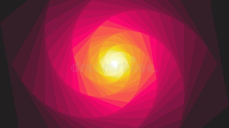 Tiempo de la dimensión del mundo del futuro ilustración del vector