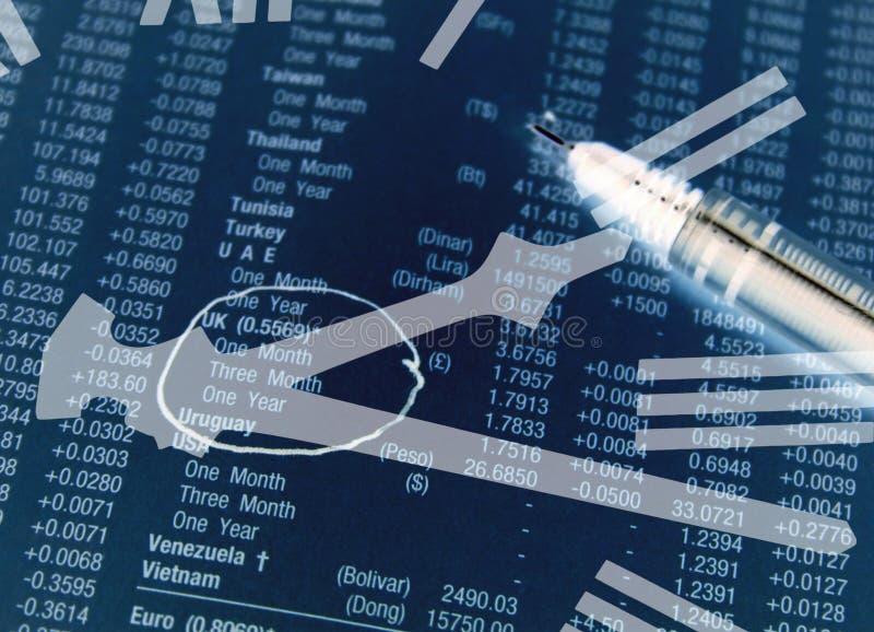 Tiempo de la inversión stock de ilustración