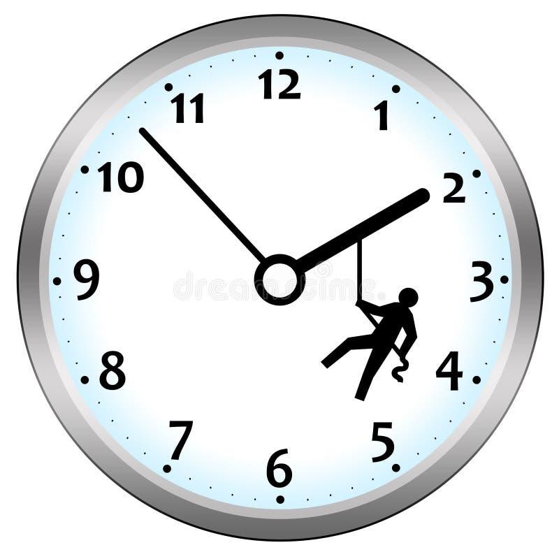 Tiempo de la lucha ilustración del vector
