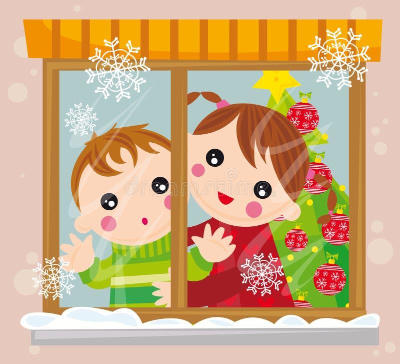 Tiempo de la Navidad stock de ilustración