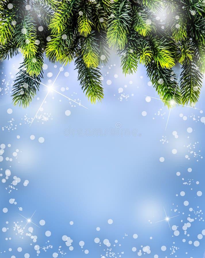 Tiempo de la Navidad Diseño de la frontera de la Navidad stock de ilustración