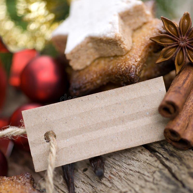 Tiempo de la Navidad, galletas foto de archivo