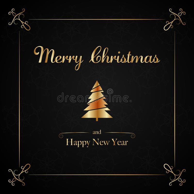 Tiempo de la Navidad - letras ilustración del vector
