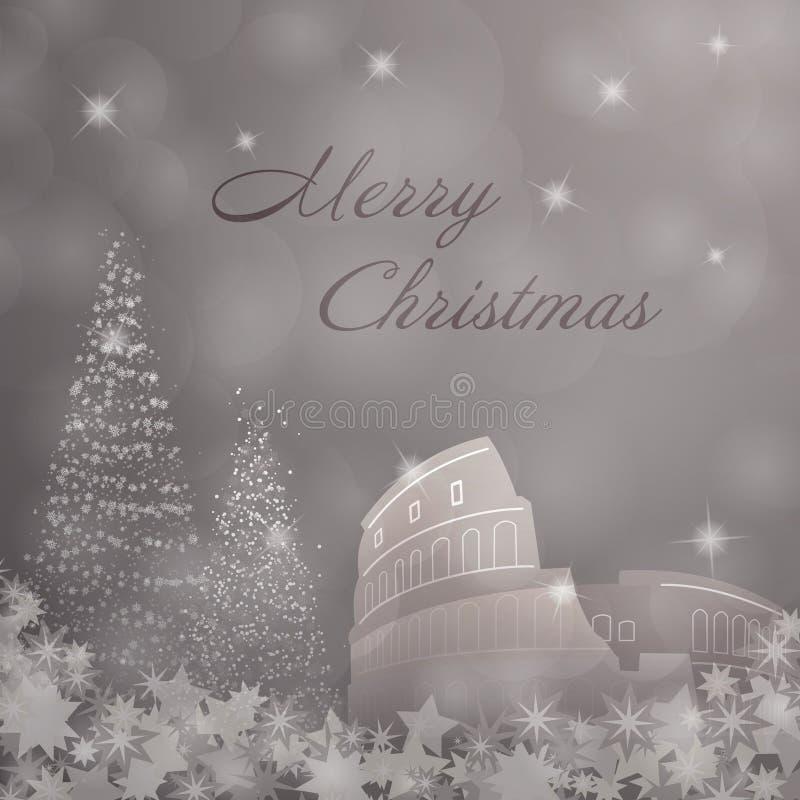 Tiempo de la Navidad - Roma stock de ilustración
