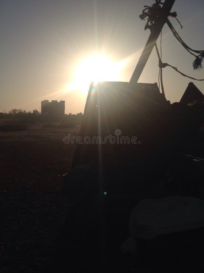 Tiempo de la puesta del sol imágenes de archivo libres de regalías