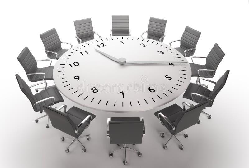 Tiempo de la reunión stock de ilustración