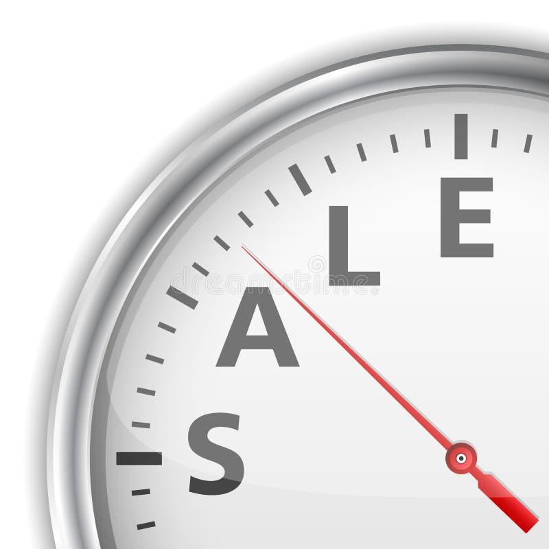 Tiempo de la venta stock de ilustración
