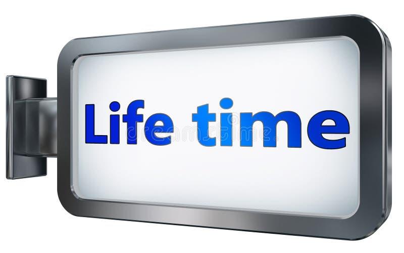 Tiempo de la vida en fondo de la cartelera libre illustration