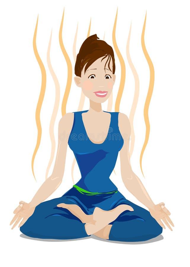 Tiempo de la yoga stock de ilustración