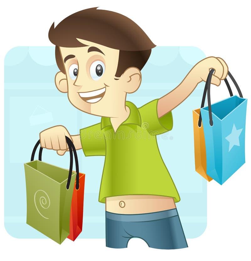 Tiempo de las compras stock de ilustración