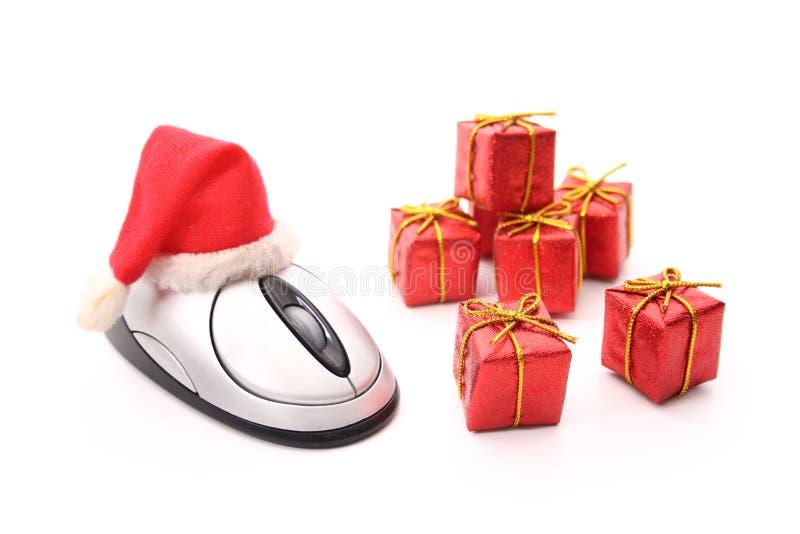 Tiempo de las ventas de la Navidad del comercio electrónico foto de archivo
