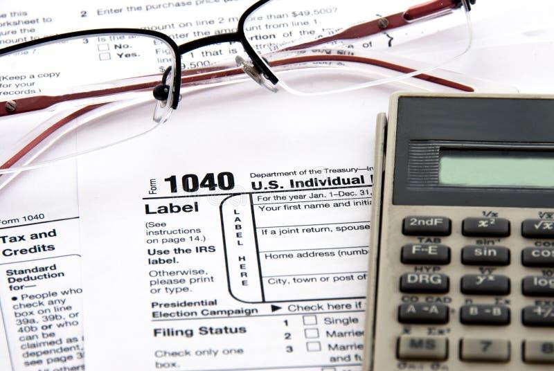 Tiempo de los impuestos foto de archivo libre de regalías