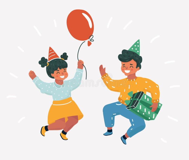 Tiempo de los niños Los niños saltan libre illustration