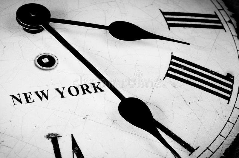 Tiempo de Nueva York imagen de archivo