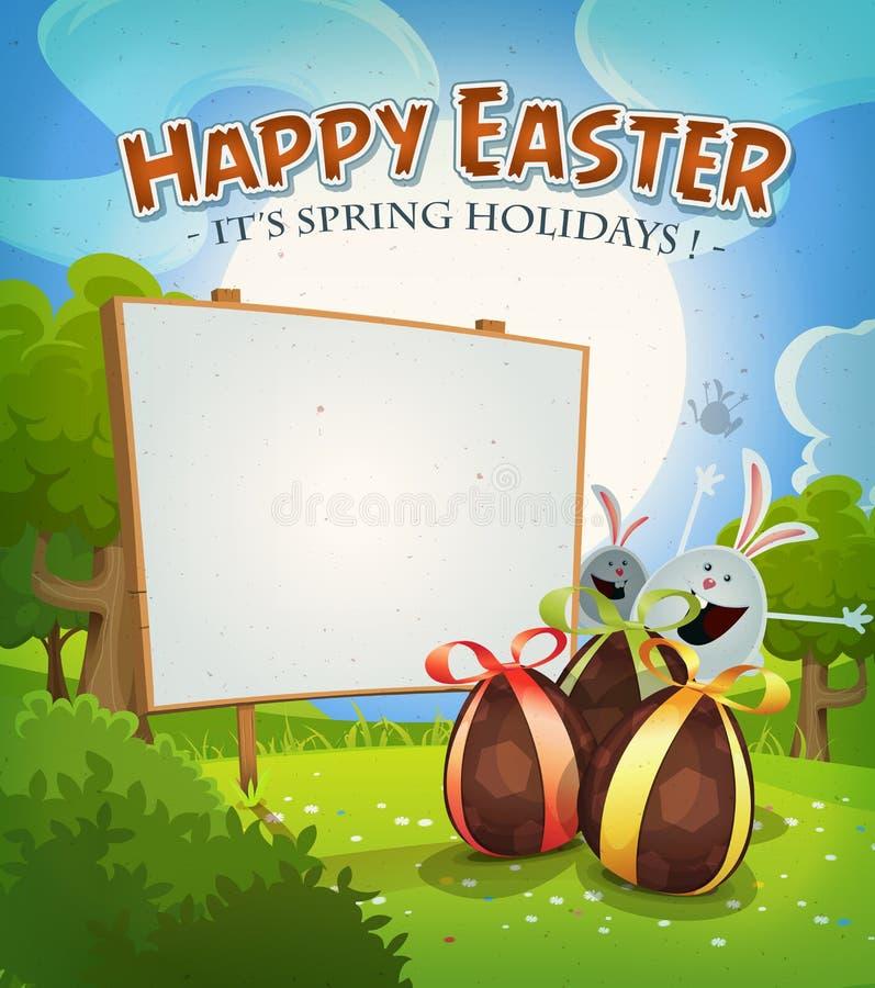 Tiempo de primavera y días de fiesta de Pascua ilustración del vector